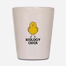 Biology Chick Shot Glass