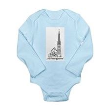 All Saints' Cathedral Long Sleeve Infant Bodysuit
