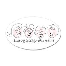 Laughing-Sisters 22x14 Oval Wall Peel