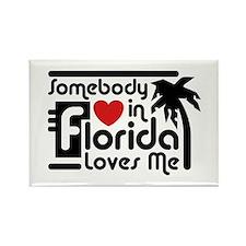 Somebody In Florida Loves Me Rectangle Magnet