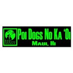 Poi Dog GREEN Sticker (Bumper)