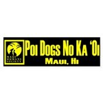 Poi Dog YELLOW Sticker (Bumper)