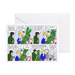 Frankenstein Tree outside Greeting Cards