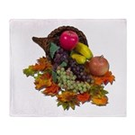 Cornucopia Abundent Fruit Throw Blanket