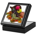 Cornucopia Abundent Fruit Keepsake Box
