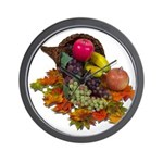 Cornucopia Abundent Fruit Wall Clock
