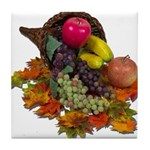 Cornucopia Abundent Fruit Tile Coaster