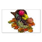 Cornucopia Abundent Fruit Sticker (Rectangle 50 pk