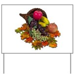 Cornucopia Abundent Fruit Yard Sign