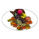 Cornucopia Abundent Fruit Sticker (Oval)