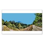 Dirt Road Mountain Path Sticker (Rectangle 50 pk)