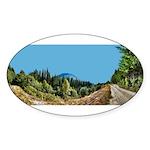 Dirt Road Mountain Path Sticker (Oval 50 pk)