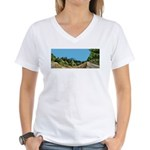 Dirt Road Mountain Path Women's V-Neck T-Shirt