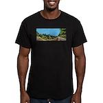 Dirt Road Mountain Path Men's Fitted T-Shirt (dark