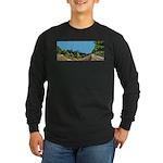 Dirt Road Mountain Path Long Sleeve Dark T-Shirt