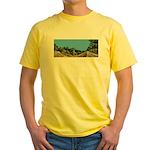Dirt Road Mountain Path Yellow T-Shirt