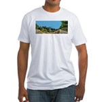 Dirt Road Mountain Path Fitted T-Shirt
