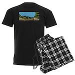 Dirt Road Mountain Path Men's Dark Pajamas