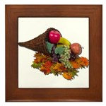 Fall Cornucopia Framed Tile