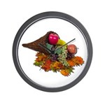 Fall Cornucopia Wall Clock