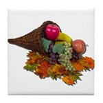 Fall Cornucopia Tile Coaster