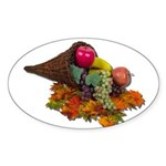 Fall Cornucopia Sticker (Oval 50 pk)