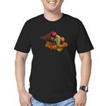 Fall Cornucopia Men's Fitted T-Shirt (dark)