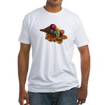 Fall Cornucopia Fitted T-Shirt