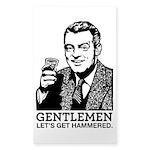 Gentlemen Sticker (Rectangle 50 pk)