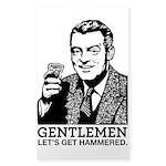 Gentlemen Sticker (Rectangle 10 pk)