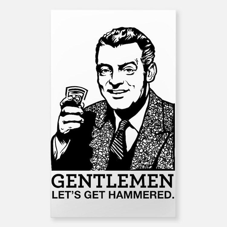 Gentlemen Decal