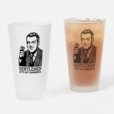 Gentlemen Drinking Glass