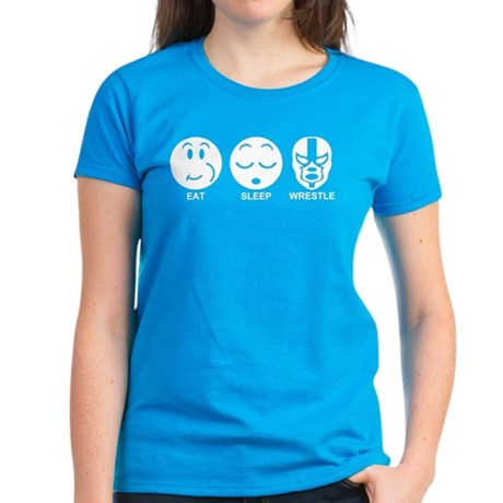 Eat Sleep Wrestle Women's Dark T-Shirt