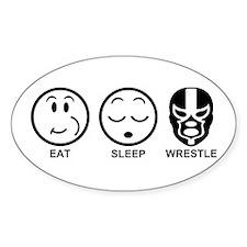 Eat Sleep Wrestle Decal