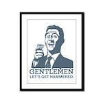 Gentlemen Framed Panel Print
