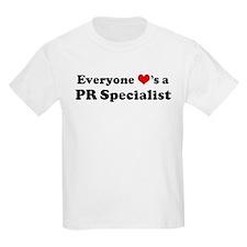 Loves a PR Specialist Kids T-Shirt