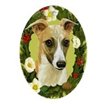 Whippet Ornament (Oval)