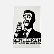 Gentlemen Rectangle Magnet