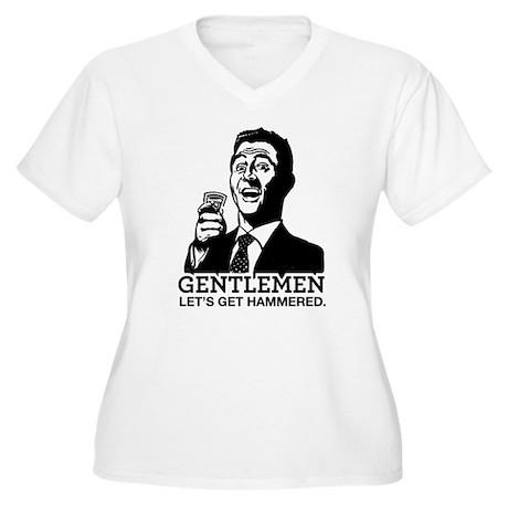 Gentlemen Women's Plus Size V-Neck T-Shirt