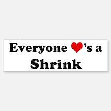 Loves a Shrink Bumper Bumper Bumper Sticker