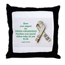 Cute Greed Throw Pillow