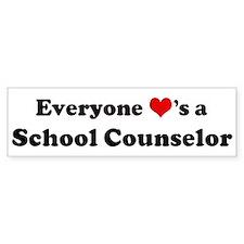 Loves a School Counselor Bumper Bumper Sticker