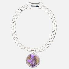 Lacey Lavender Charm Bracelet, One Charm