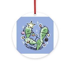 Christmas Cactus Ornament (Round)