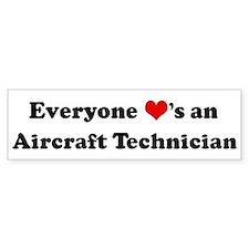 Loves a Aircraft Technician Bumper Bumper Sticker