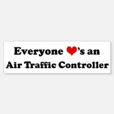 Loves a Air Traffic Controlle Bumper Bumper Bumper Sticker