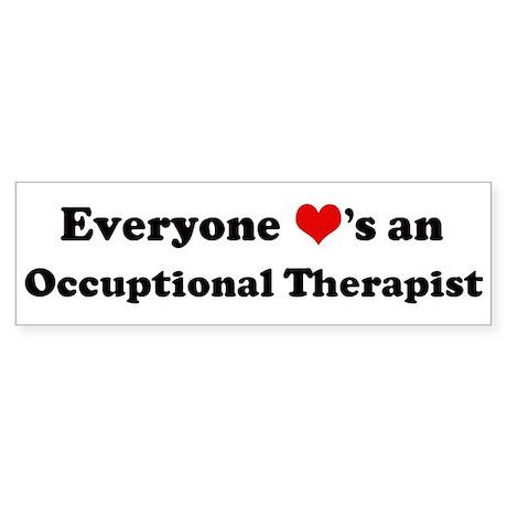 Loves a Occuptional Therapist Bumper Sticker
