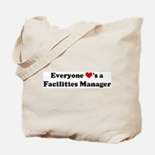 Loves a Facilities Manager Tote Bag