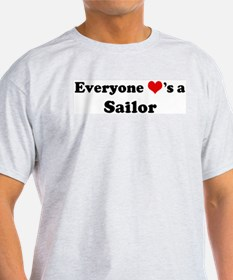 Loves a Sailor Ash Grey T-Shirt