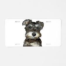 Puppy Aluminum License Plate